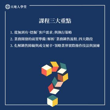 銷售談判#1(張宏裕)_課程三大重點